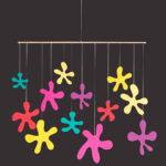 interiérová závěsná dekorace (mobil) - Luční květy