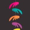 interiérová závěsná dekorace (mobil) - Pestrá křídla