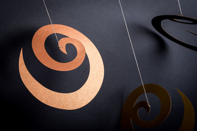 závěsná dekorace - Spirály