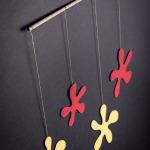 závěsná dekorace - Luční květy malé