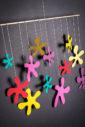 závěsná dekorace (mobil) - Luční květy