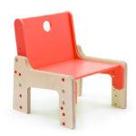 dětský rostoucí nábytek - židle červená