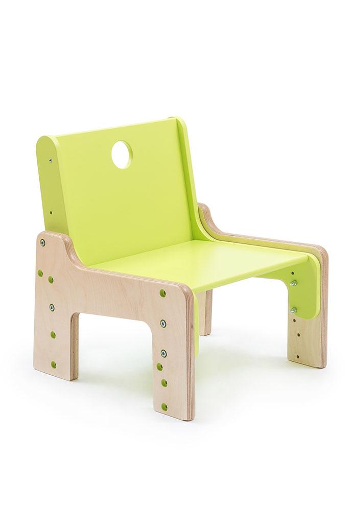 dětský rostoucí nábytek - židle zelená