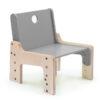 dětský rostoucí nábytek - židle šedá