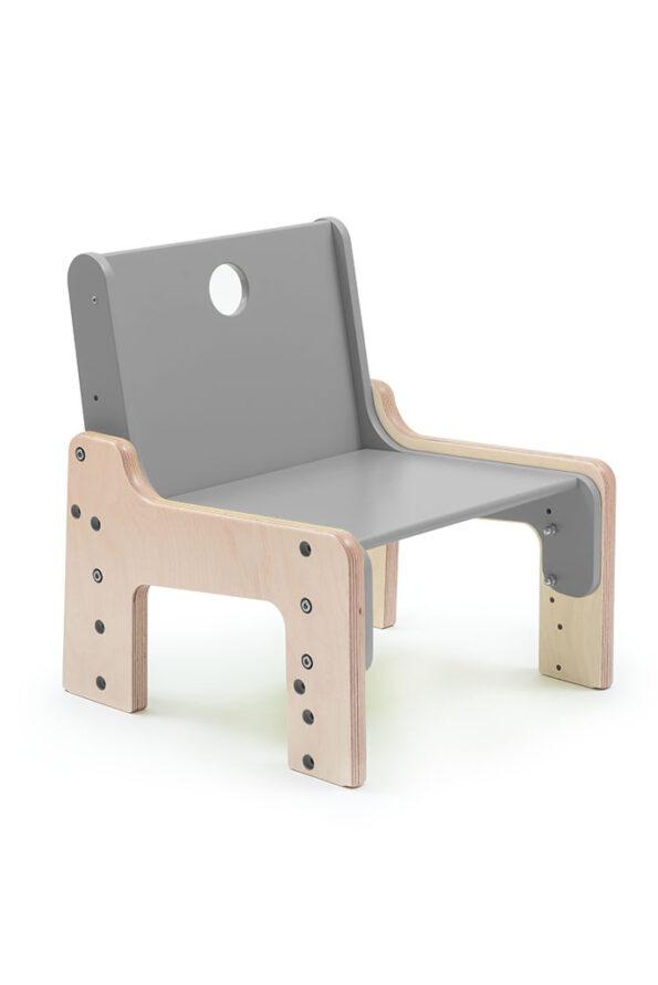 Rostoucí židle šedá