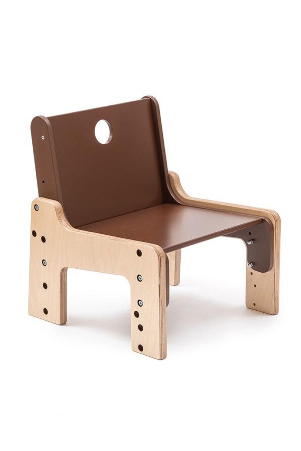 Rostoucí židle hnědá – čokoládová