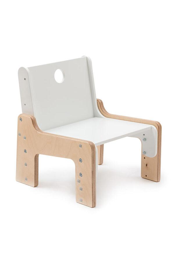 Rostoucí židle bílá