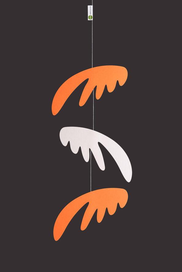 interiérová závěsná dekorace (mobil) - Pestrá křídla malá oranžová