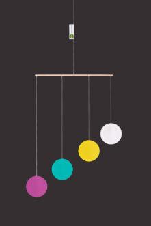 montessori závěsná dekorace (mobil) - Gobbi pestrý