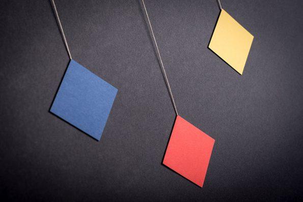 montessori závěsná dekorace (mobil) - Trio 2D / octahedron
