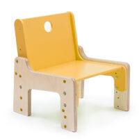dětský rostoucí nábytek - židle žlutá
