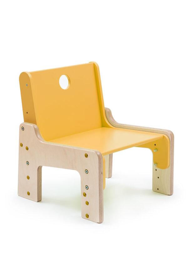 Rostoucí židle žlutá