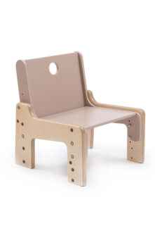 dětský rostoucí nábytek - židle hnědá