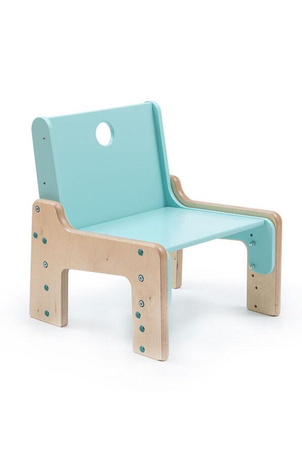 Rostoucí židle modrá