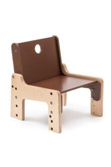 dětský rostoucí nábytek - židle hnědá / čokoládová