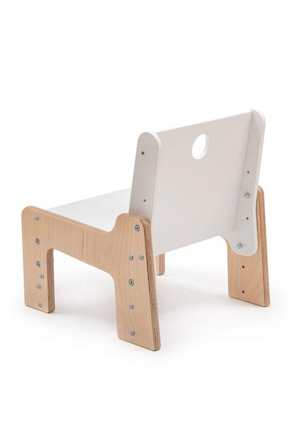 dětský rostoucí nábytek - židle bílá