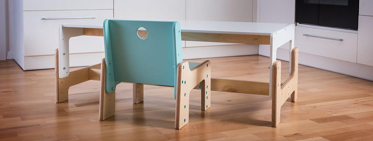 dětský rostoucí nábytek mimimo - stůl a židle